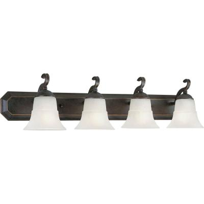 Progress Lighting Melbourne Collection Espresso 4-light Vanity Fixture P3024-84