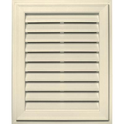 20 in. x 30 in. Brickmould Gable Vent in Heritage Cream