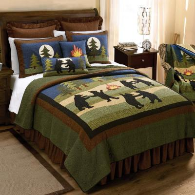 Donna Sharp Bear Dance Collection Graphic 140-Thread Count Cotton Quilt