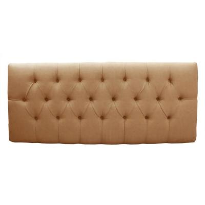 Home Decorators Collection Tivoli Saddle Microsuede Button Tufted Full Headboard