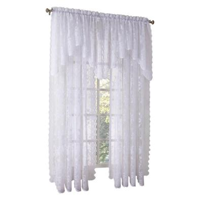 White Alison Lace Curtain Swag, 58 in. W x 32 in.