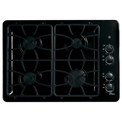 GE 30 in. Gas Cooktop in Black with 4 Burners including Power Boil Burner