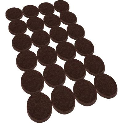 Everbilt 1 in. Heavy Duty Brown Self-Adhesive Felt Pads (48 per Pack)