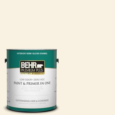 1-gal. #BWC-03 Lively White Semi-Gloss Enamel Interior Paint