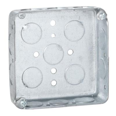 4 in. Square Box, Drawn, 1-1/2 in. Deep with 1/2 in. KO's (50-Pack) Product Photo