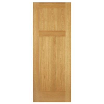 3-Panel Mission Unfinished Red Oak Interior Door Slab