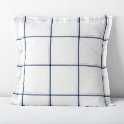 Window Pane Plaid Yarn-Dyed Cotton Percale Sham