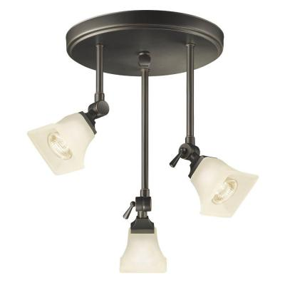 Hampton Bay Westminster Collection Bronze 3 Light Track Canopy EZH2383 3Hampt