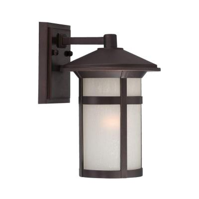 Acclaim Lighting Phoenix Collection 1-Light Outdoor Architectural Bronze Wall Mount Light