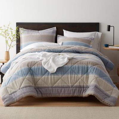 Frasier Yarn Dyed Stripe Organic Flannel Comforter