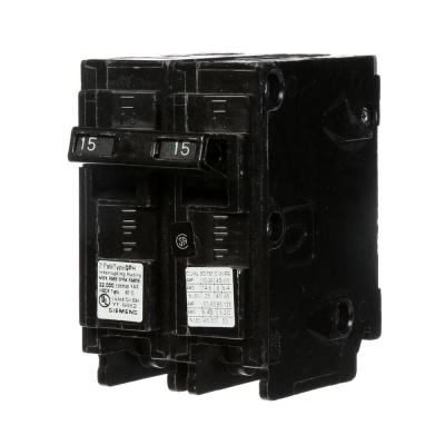 15 Amp Double-Pole Type QP Circuit Breaker Product Photo