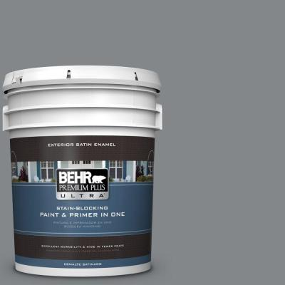 5 gal. #N500-5 Magnetic Gray Color Satin Enamel Exterior Paint