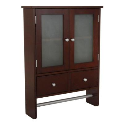 home decorators collection amanda 24 in w wall cabinet in dark brown 5216510820 the home depot
