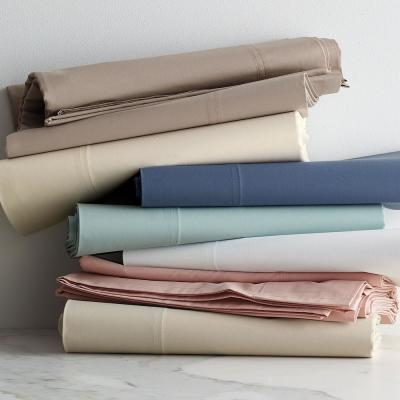 Organic 300-Thread Count Cotton Percale Sheet Set