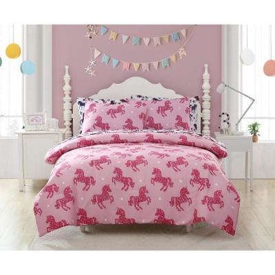 Shimmering Glitter Unicorn Comforter Set