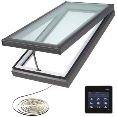 30-1/2 in. x 46-1/2 in. Fresh Air Electric Venting Curb-Mount Skylight with Laminated Low-E3 Glass Product Photo