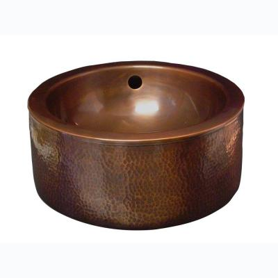 Barclay Products Vessel Sink in Hammered Antique Copper