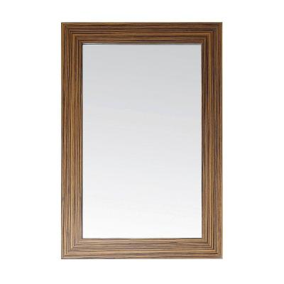 Knox 24 in. x 36 in. Non Beveled Edge Mirror in Zebra Wood Product Photo