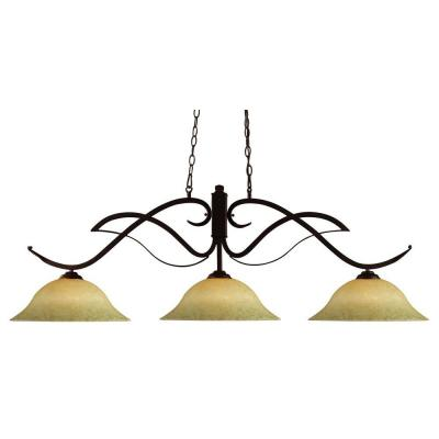 Z-lite Lawrence 3-Light Bronze Incandescent Ceiling Island Pendant
