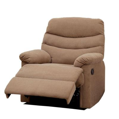 Pleasant Valley Flannelette Recliner Chair in Mocha Brown Product Photo