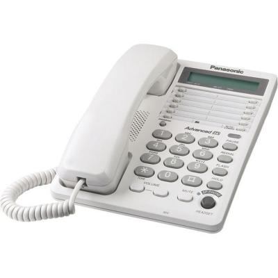 Panasonic Corded Feature Phone with Speakerphone and an LCD - White