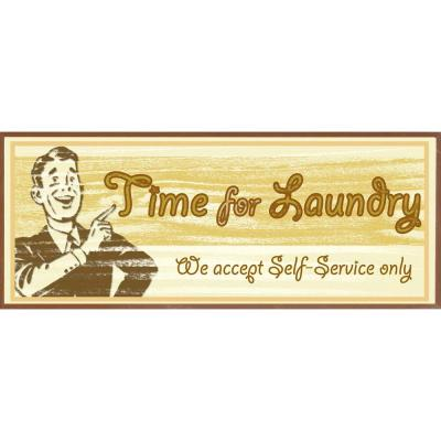 "null 15 in. x 6 in. ""Time for Laundry B"" Framed Wall Art"