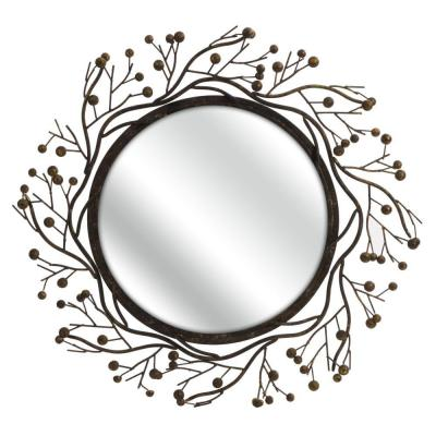 Home Decorators Collection Berry Brown 38.25 in. x 38.25 in. Mirror