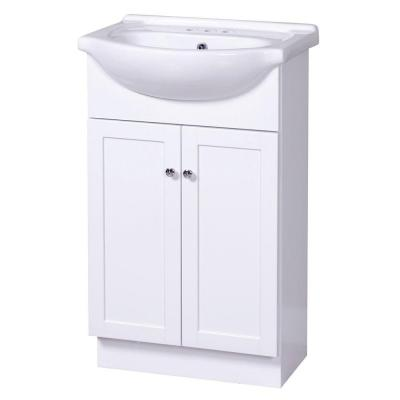 Columbia Euro 21-3/4 in. Vanity in White with Vitreous China Vanity