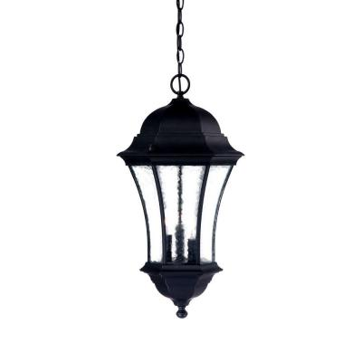 Acclaim Lighting Waverly Collection Hanging Lantern 3-Light Outdoor Matte Black Light Fixture