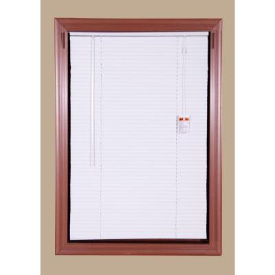 Bali Today White 1 in. Room Darkening Aluminum Mini Blind - 58 in. W x 64 in. L (Actual Size is 57.5 in. W x 64 in. L)