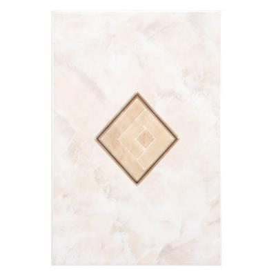 Gamma Beige 7-3/4 in. x 11-3/4 in. Ceramic Decor Wall Tile