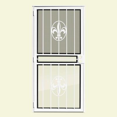 Fleur-de-Lis Recessed Mount Outswing Security Door