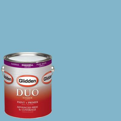 1-gal. #HDGB46 Mayflower Blue Eggshell Latex Interior Paint with Primer