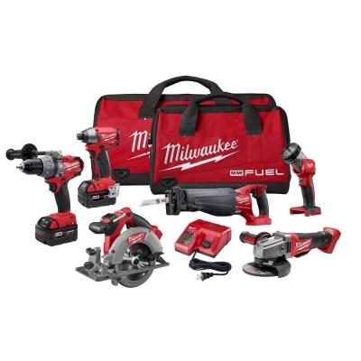 Milwaukee M18 Fuel 18-Volt Lithium-Ion Brushless Combo Kit (6-Tool)