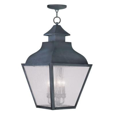 Filament Design Providence 4-Light Hanging Outdoor Charcoal Incandescent Lantern