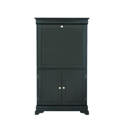 Louis Philippe 2-Door Secretary Desk in Black Product Photo