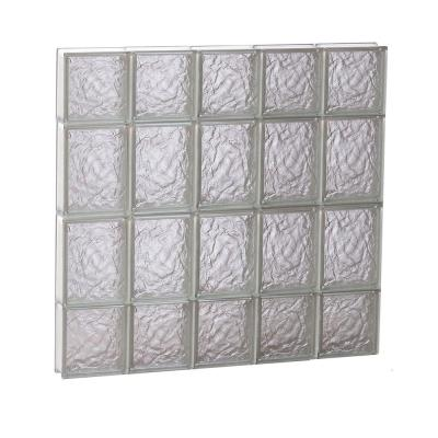 28.75 in. x 27 in. x 3.125 in. Ice Pattern Non-Vented Glass Block Window Product Photo
