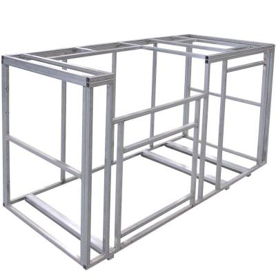 Cal Flame 6 Ft Outdoor Kitchen Island Frame Kit KD F6002 The Home
