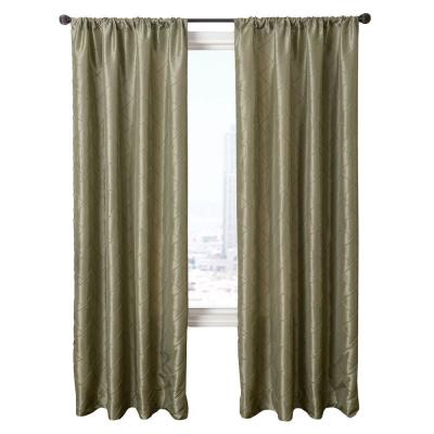 Home Decorators Collection Sage Colchester Rod Pocket Curtain - 54 in.W x 84 in. L