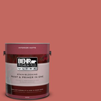 BEHR Premium Plus Ultra Home Decorators Collection 1 gal. #HDC-CL-10 Tapestry Red Flat/Matte Interior Paint