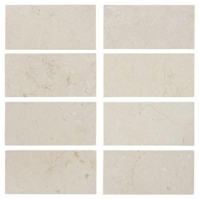 Creama 3 in. x 6 in. Honed Marble Floor/Wall Tile (8 pieces / 1 sq. ft. / pack) Product Photo