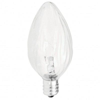 Philips Duramax 25 Watt Incandescent F10 Candelabra Base Clear Long Life Flame Dimmable Light