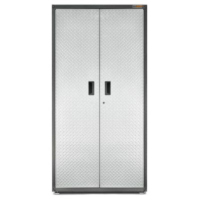 Gladiator Ready to Assemble 72 in. H x 36 in. W x 24 in. D Steel Freestanding Garage Cabinet in Silver Tread