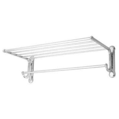 USE Dover 20 in. Shelf with Towel Bar in Satin Nickel-DISCONTINUED