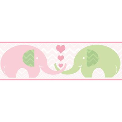 6.5 in. Tobi Pink Elephant Love Border Product Photo