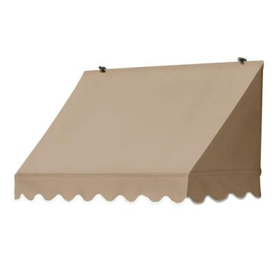 Awnings in a Box 4 ft. Traditional Manually Retractable Awning (26.5 in. Projection) in Sand