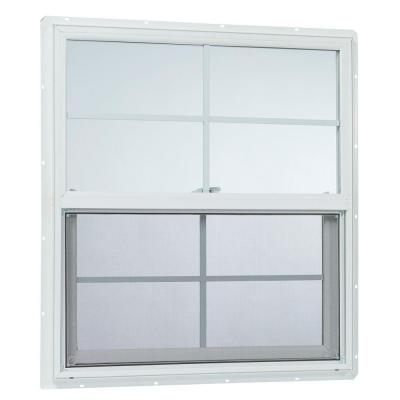 31.25 in. x 35.25 in. 25000 Series Single Hung Vinyl Window Insulated with Grids Product Photo