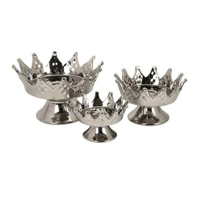 Home Decorators Collection 6 in. W Kingston Silver Plate Set (Set of 3)