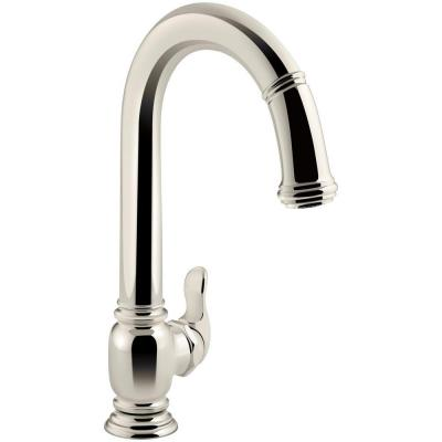 KOHLER Beckon Single-Handle Electronic Pull-Down Sprayer Kitchen Faucet in Vibrant Polished Nickel