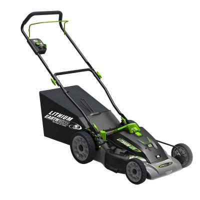 18 in. 3-in-1 40-Volt Lithium-Ion Walk-Behind Cordless Electric Lawn Mower